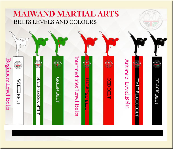 b8340f0466ae5 The Maiwand Martial Arts Training system is divided into five main levels.